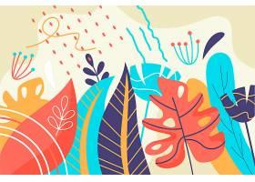 图文并茂的热带树叶背景_7974233