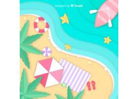 图纸样式的海滩俯视图_4490625