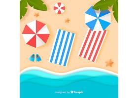 图纸样式的海滩俯视图_4490626