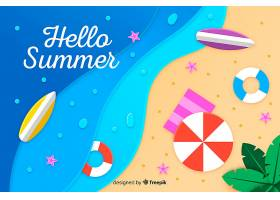 图纸样式的海滩俯视图_4490642