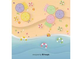 图纸样式的海滩俯视图_4510767