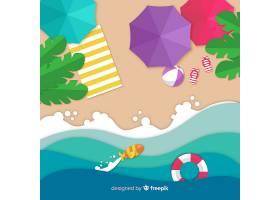图纸样式的海滩俯视图_4566237