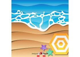 图纸样式的海滩俯视图_4591894