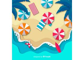 图纸样式的海滩俯视图_4595551