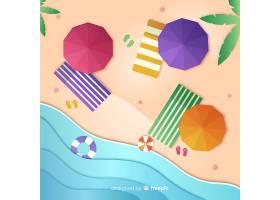 图纸样式的海滩俯视图_4595554