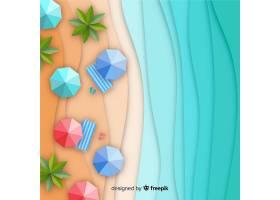 图纸样式的海滩俯视图_4636378