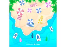 图纸样式的海滩俯视图_4650502
