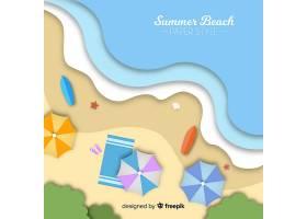 图纸样式的海滩俯视图_4664368