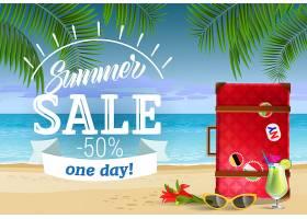 夏季促销有一天会有海边和鸡尾酒的字样_2766971