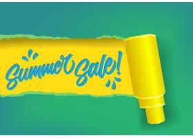 夏季促销条幅有黄蓝绿三种颜色_2541787
