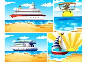 一套夏季海滩背景_9720415