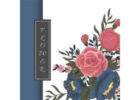 一种带花卉背景的贺卡模板_3554463