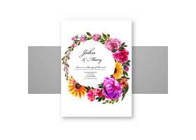 一种装饰性的花卉卡片模板_9121639