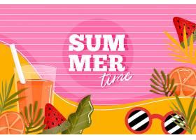 五彩缤纷的夏日背景概念_8510703