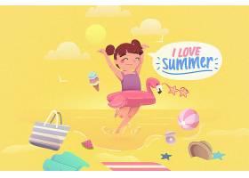 五彩缤纷的夏日背景概念_8510705