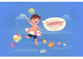 五彩缤纷的夏日背景概念_8510706