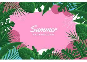 五彩缤纷的夏日背景设计_8280136