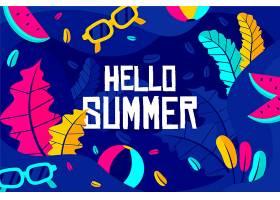五颜六色的夏日壁纸风格_8286925