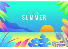 五颜六色的夏日插图壁纸_8417282