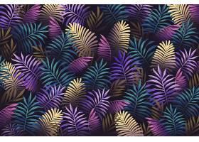 逼真的彩色热带树叶背景_7974228