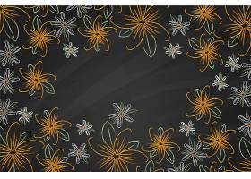 黑板背景上的金花_6437485