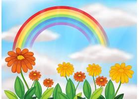花园和美丽的彩虹_2439628