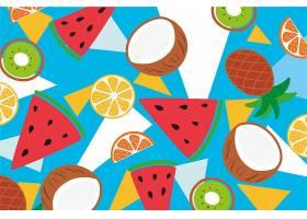 菠萝和异国情调的水果片_8353246
