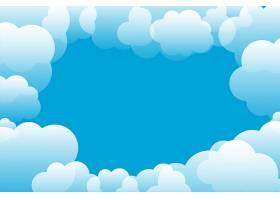 蓝天和云彩背景带文本空间_9191637