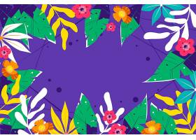 热带花卉设计背景_8968397