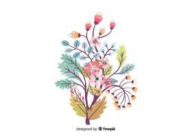 白色背景下的花卉剪影平面设计_5445456