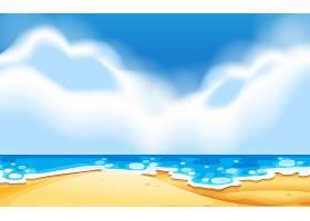 空荡荡的海滩景色_4382380