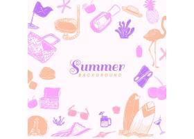 粉红色夏季背景_4239246