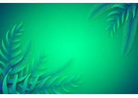 绿色热带树叶复制空间背景_8247378