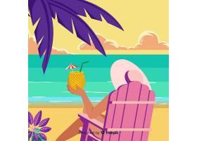 美丽的热带海滩背景_2783944