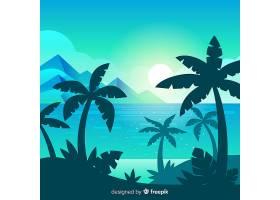 海滩落日景观背景_4472738