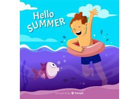 平淡的你好夏日背景_4462436