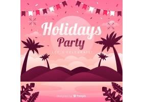 平淡的热带夏日派对背景_5137160