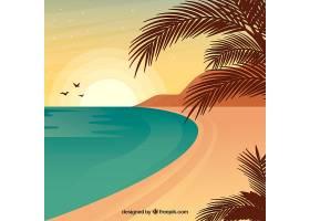 平面设计中的夏季景观背景_2786898