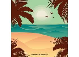 平面设计中的夏季景观背景_2786900