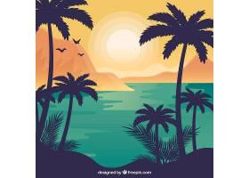 平面设计中的夏季景观背景_2786903