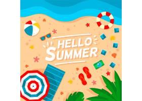 平面设计你好夏日背景_7818624