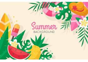 平面设计夏日沙滩壁纸_8356102