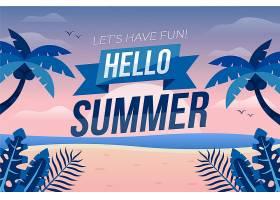 平面设计夏日背景_8248260