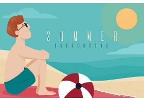平面设计夏日背景主题_8141478