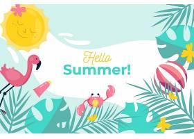 平面设计夏日背景主题_8278727