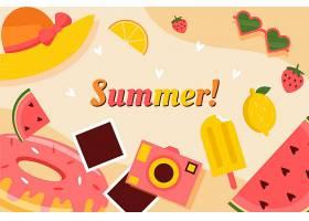 平面设计夏日背景概念_8278725