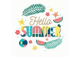 您好夏日刻字壁纸_7884357
