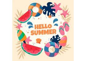 您好夏日手绘壁纸_7818626