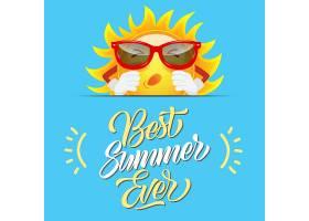 戴着太阳镜的太阳卡通人物迎接有史以来最好_2538710