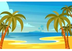 用于缩放的夏季景观背景_8851431